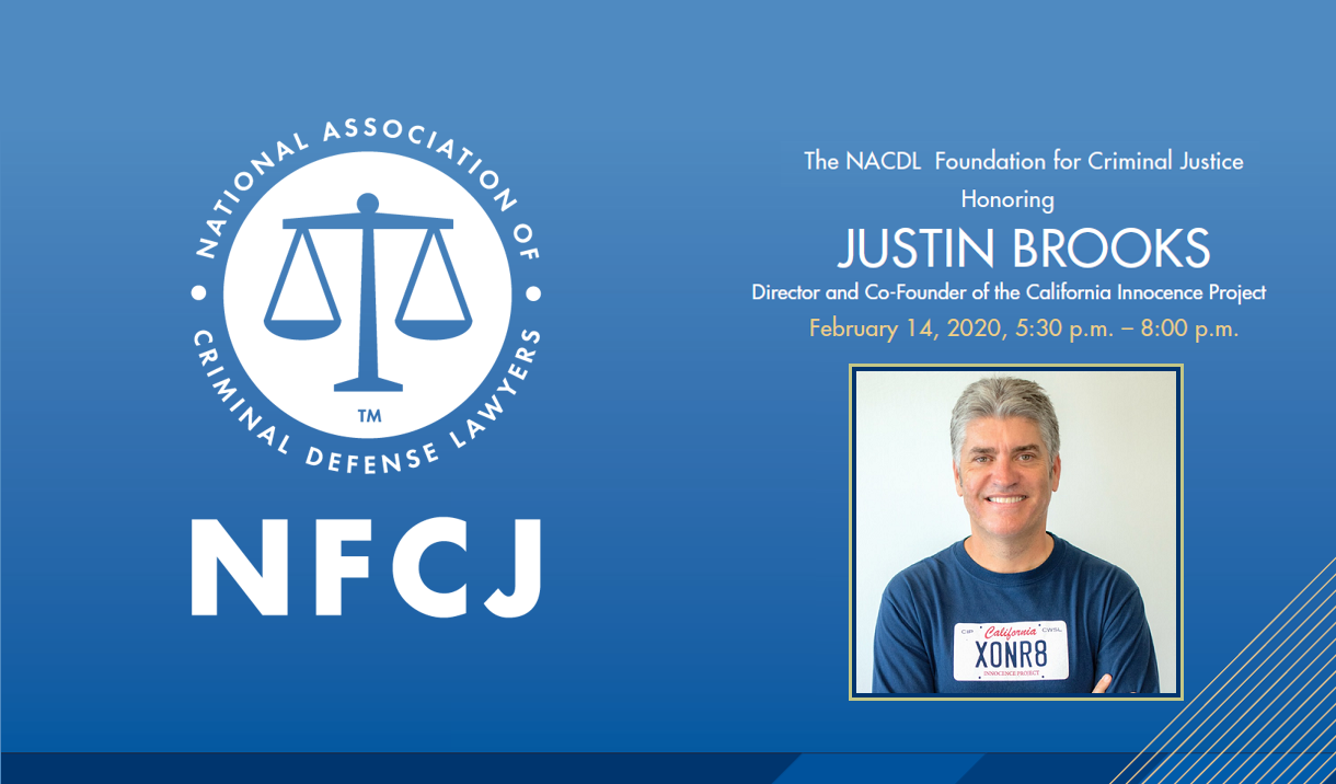 Article 2020 NFCJ Reception - Honoring Justin Brooks