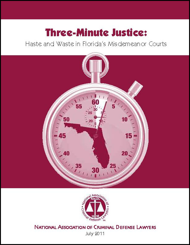 Three Minute Justice: Haste and Waste in Florida's Misdemeanor Courts Cover