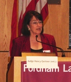 Retired Judge Nancy Gertner moderating a panel at NACDL's 7th Annual Defending the White Collar Case Seminar (2011).
