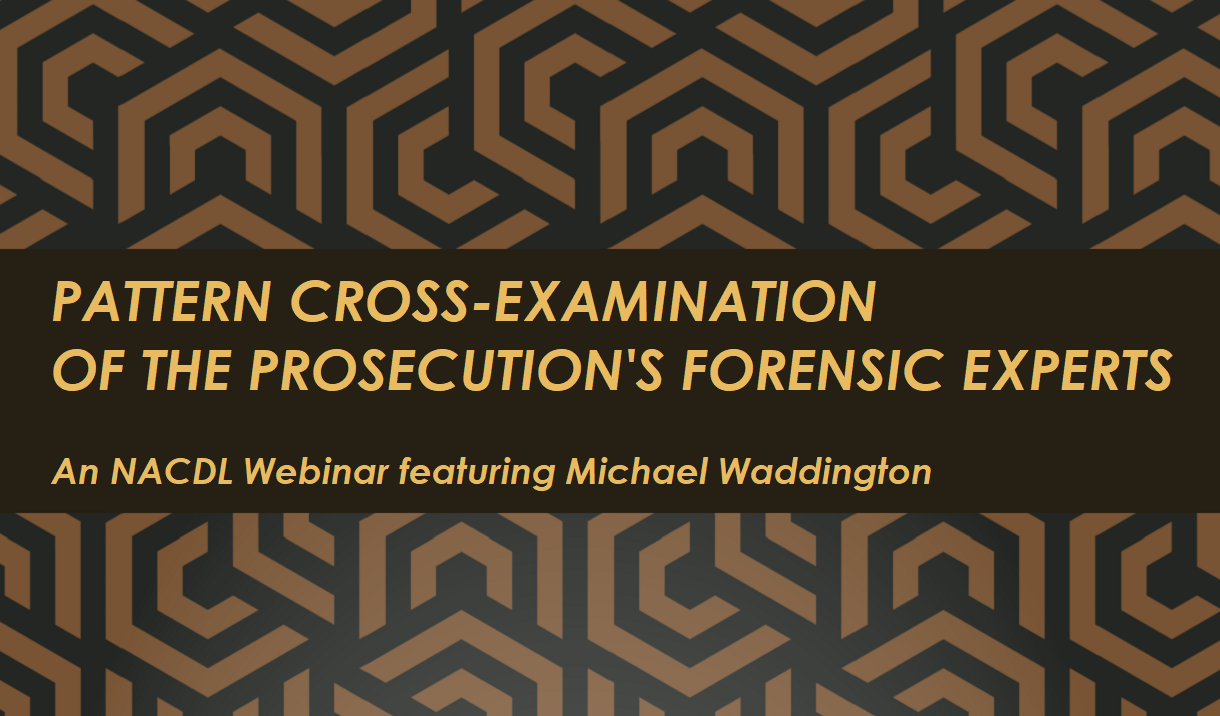 Article Pattern Cross-Examination of the Prosecution's Forensic Experts