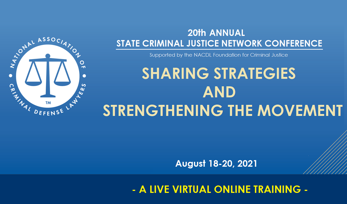 Article 20th Annual State Criminal Justice Network Conference