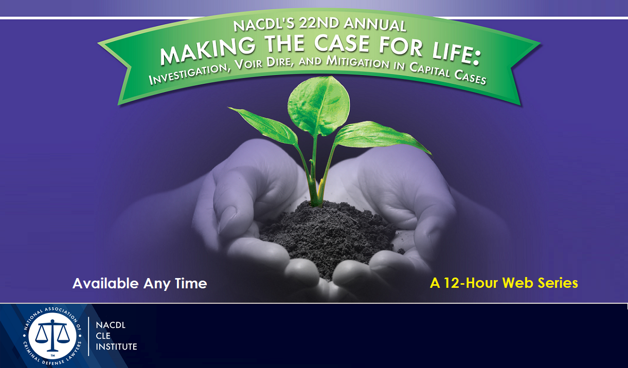 2020 Making the Case for Life - A 11-Hour Web Training Cover